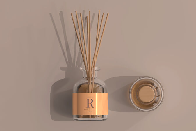 熏香空气清新剂芦苇扩散器玻璃瓶样机