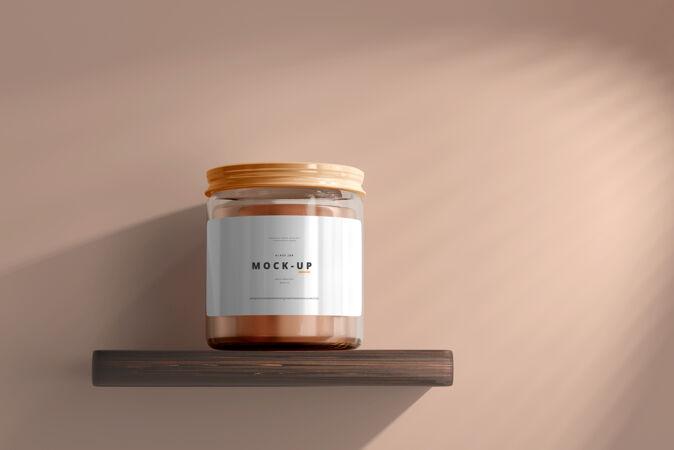 玻璃化妆品罐模型