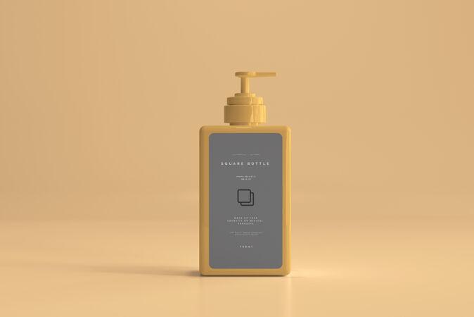 方形泵瓶模型
