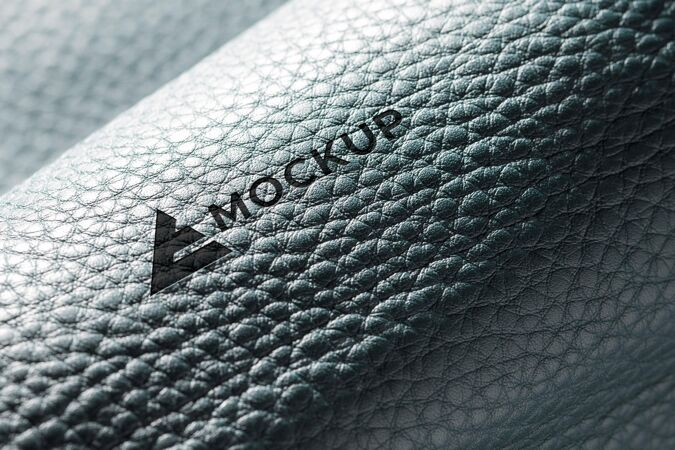 皮革材料模型的特写镜头