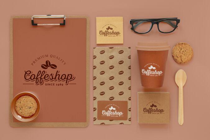 俯瞰咖啡品牌概念
